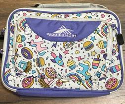 High Sierra Girls Insulated Lunch Bag - unicorn rainbows roc