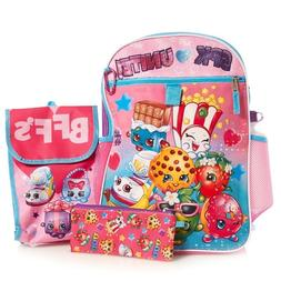 Shopkins Girls School Backpack 5 Piece Set Lunch bag Pencil