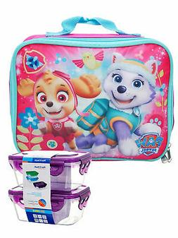 Girls Paw Patrol Skye Everest Insulated Lunch Bag Pink w/ Sn