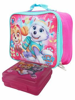 Girls Paw Patrol Skye Everest Insulated Lunch Bag Pink & San