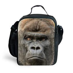 Gorilla Print Lunch Bag Fashin Designs Mens Boys School Work