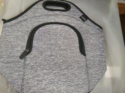YUKOOL Gray Lunch Bags for Girls Women Men and Kids,Neopren.