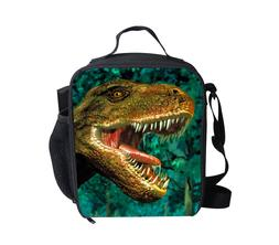 Green Dinosaur Lunch Bags Boys School Lunch Cooler Insulated