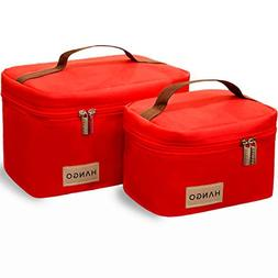 Hango Insulated Lunch Box Cooler Bag , Red