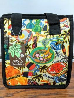 Hawaiian Print Thermal Insulated Zipper Lunch Bag Aloha Stat