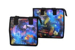 Hawaiian Print Thermal Insulated Zipper Lunch Bag Rainbow Ni