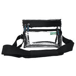Small Heavy Duty Clear Lunch Bag Black Trim