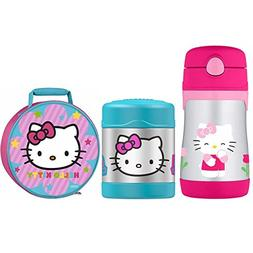 THERMOS Hello Kitty Lunch Kit w/ 10 oz Straw Bottle and 10 o