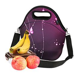 iColor Neoprene Lunch Bag, insulated lunch box with Shoulder