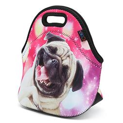 iColor Happy Pug Insulated Neoprene Kids Lunch Bag - Great G