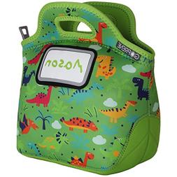 GOPRENE Kids Dinosaur Neoprene Lunch Bag with ID Card Pocket
