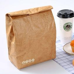 Insulated Brown Paper Lunch Bags Large Reusable Lunch Sack f