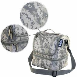 Insulated Cooler Lunch Bag Picnic Bag Dual Compartment Shoul