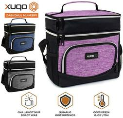 Insulated Dual Compartment Medium Lunch Bag for Adults Kids