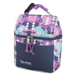 Insulated Lunch Bag With Wide Opening Zipper For Men Boy and
