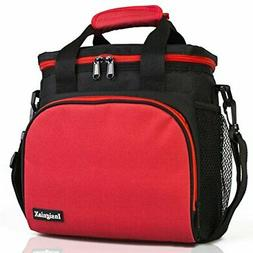 Insulated Lunch Bag: InsigniaX Adult Lunch Box For |Red)
