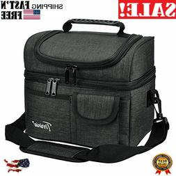 1Insulated Lunch Bag, Leakproof Thermal Bento Cooler Tote fo