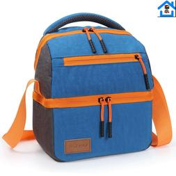Insulated Lunch Bag Lunch Box with Shoulder Strap for Boys G