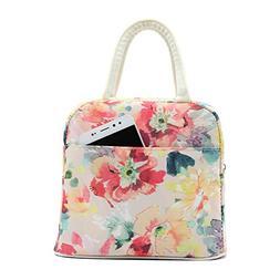 Mziart Insulated Lunch Bag Travel Picnic Box Handbag Waterpr