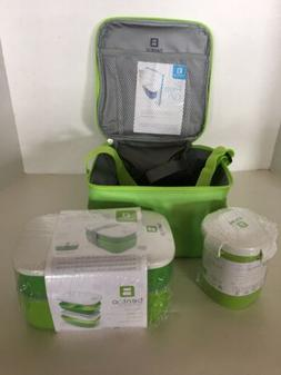 Insulated BENTGO Lunch bag set - 3PC - Bag-Stackable Lunch B