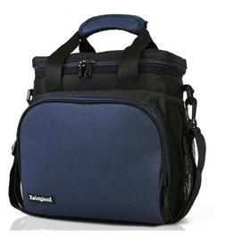 Insulated Lunch Bag Stylish Adjustable Strap Handle Front La