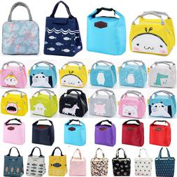 Insulated Lunch Bag Thermal Cooler Women Kids Picnic Food Bo