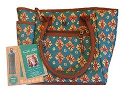The Pioneer Woman Insulated Lunch Bag Tote with Geo Water Bo