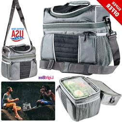 Insulated Lunch Bag Tote Box 8Lt Travel Men Women Adult Food