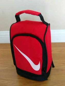 NIKE Insulated Lunch Bag Tote Dual Compartment Boys Red Swoo