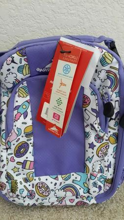 High Sierra Insulated Lunch Bag Unicorn/Rainbows/Rockets/Cup