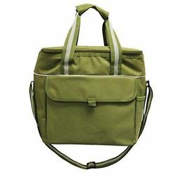 Earthwise Insulated LUNCH BAG w/ZIPPER Closure Extra Large,