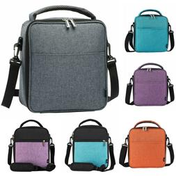Insulated Lunch Bag With Shoulder Strap Thermos Cooler for T