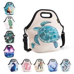 Neoprene Lunch Tote Bags for Women Kids Office School Men In