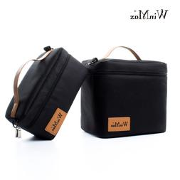 Insulated Lunch Bags for Women Men Lunch Box Cooler Black Th