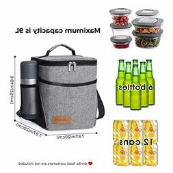 Insulated Lunch Box Lunch Bag Soft Cooler Leakproof Thermal