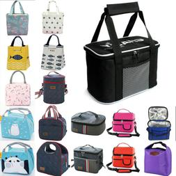 Insulated Zipper Lunch Box Lunch Bag Thermal Bento Bag Men W