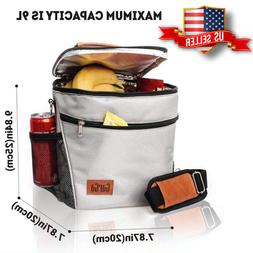 Insulated Lunch Box Lunch Bag Thermal  Food Container Grey C