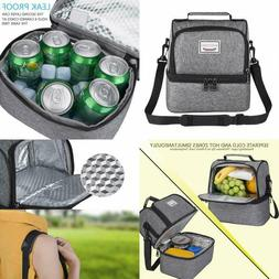 Insulated Lunch Box Tote Bag Travel Men Women Adult Hot Cold
