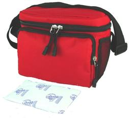 Everest Insulated Lunch Tote Cooler Bag with 8 oz Nordic Ice