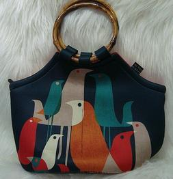 ART OF LUNCH Insulated Neoprene Lunch Bag NWOT Flock of Bird
