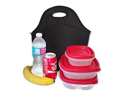 X-Large Insulating Neoprene Lunch Tote Bag, Machine Washable