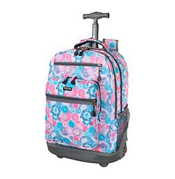 J World New York Sundance Laptop Rolling Backpack CHECKMATE