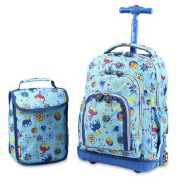 J World New York Lollipop Kids' Rolling Backpack with Lunch