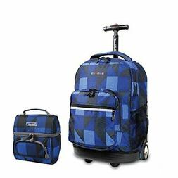 J World New York Sunrise Rolling Backpack & Corey Lunch bag