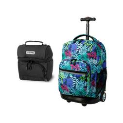J World Sunrise Rolling Backpack and Corey Lunch Bag Bundle