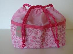 """Japanese Bento Lunch Bag """"SAKURA"""" Cherry Blossom Waterproof"""
