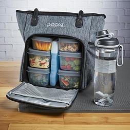 Fit & Fresh Jaxx FitPak Commuter Meal Prep Bag with Portion
