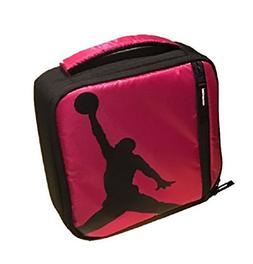 NIKE Jordan Kids Lunch Tote Bag Black Pink
