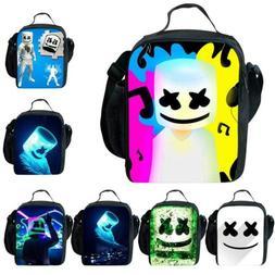 Kids Boys Girls DJ Marshmallow Insulated Lunch Bag School Pi