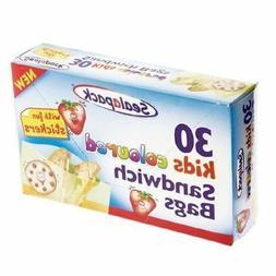 Kids Coloured Sandwich Bag Fun Stickers Childrens Home Kitch